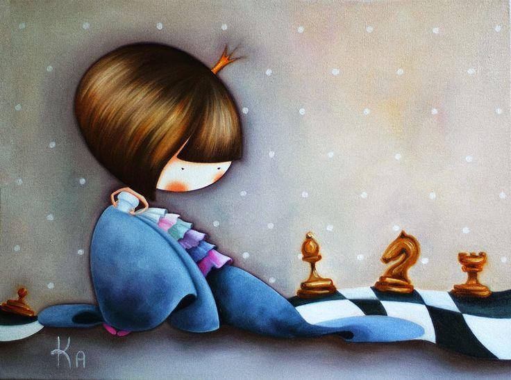 Картины для детских комнат: Шахматная принцесса:)
