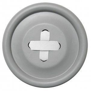 HK-living Haak grijs hout, witte steek 3 maten Ø6,13 en 18cm, Knoophaken