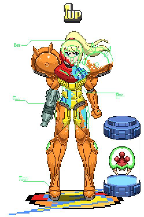 Samus Aran (Metroid Series.)