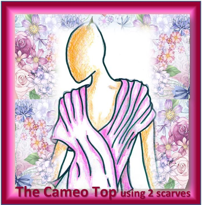 See how on Youtube:¬******************  The Cameo Top – elegant, romantic, Women's Top for any occasion.  2 Scarves, only straight lines of stitching (beginner to advanced) in only 1 – 2 hours.