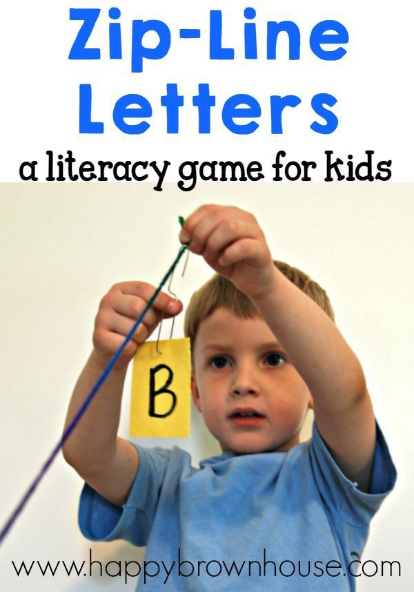 Zip-Line Letters! A fun, hands-on ABC game for toddlers, preschoolers, and kindergartners this summer!