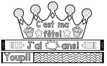 French Birthday Crowns!