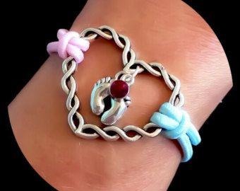 Infant Loss Crystal Twisted Heart Bracelet by HEAVENSBOOK on Etsy