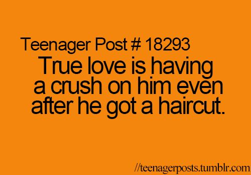 Haha. Why do guys always seem less attractive after they get a haircut...happens all the time!!