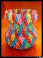 Origami vase with ear ver II by blackwild