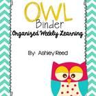 Another goodie for the owl themed classroom...this OWL binder is sure to contribute to Organized Weekly Learning in your classroom!  For a complete...