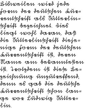Suetterlin Schrift