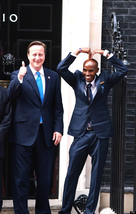 "Double Olympic champion Mo Farah said that the issue of child hunger ""touched his heart"" as he urged political leaders to tackle malnutrition in the poorest parts of the world. The Somalia-born athlete joined international politicians and sporting greats at a ""hunger summit"" in Downing Street. Prime Minister David Cameron hopes to secure commitments from leaders & multinational firms to help prevent 25 million children under 5 suffering stunted growth by the time of the 2016 Olympic Games"