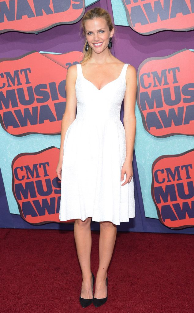 Brooklyn Decker from CMT Music Awards 2014: Red Carpet Arrivals  The model was ready for summer in this breezy white frock.
