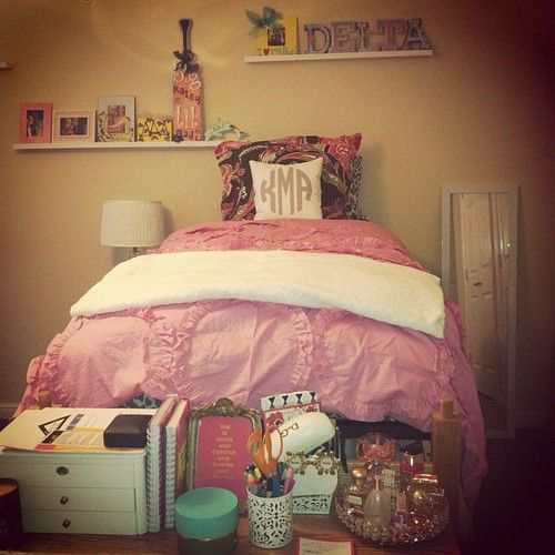 Cute Pillows For Dorm Rooms : Tri Delta dorm room Dorm Sweet Dorm Pinterest Sorority, Perfume and The pillow