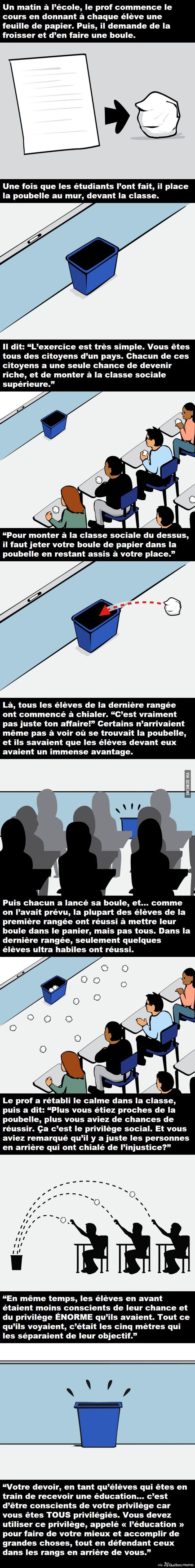 Leçon de vie – Québec Meme +