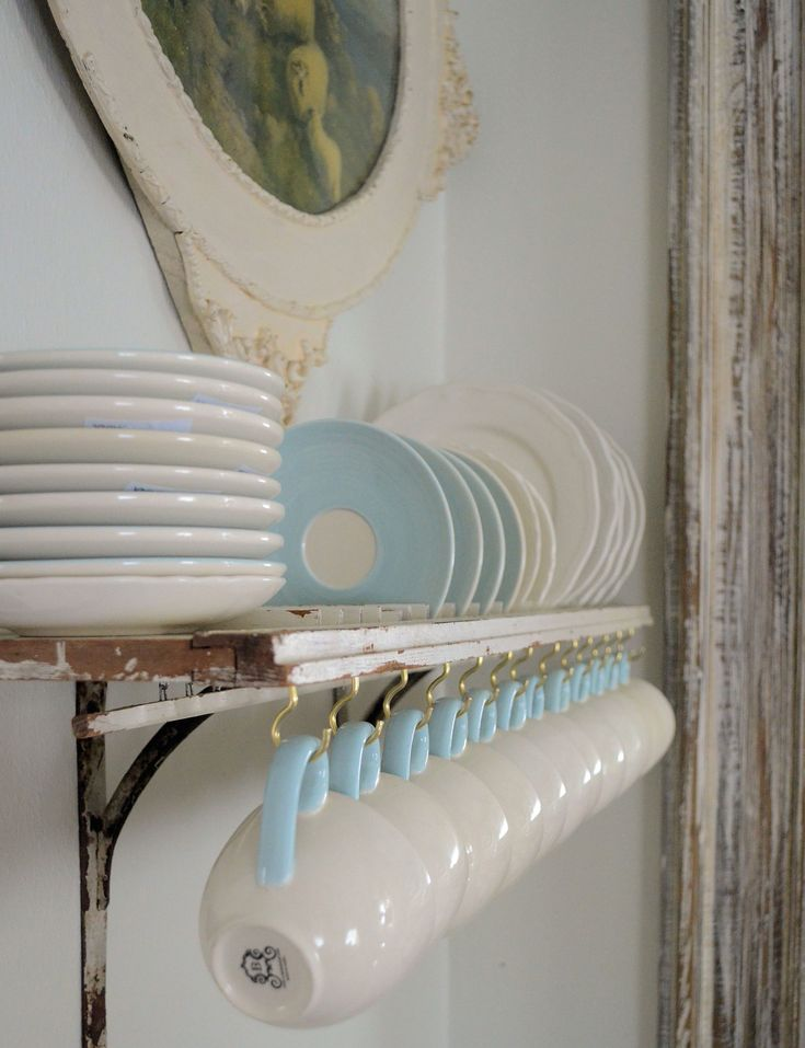 Build a shabby-chic shelf from an old shutter to display your best dinnerware. Functional, budget-friendly, and pretty, this simple D.I.Y. is an all-around win.  Learn more at Laurie Anna's Vintage Home.    - Redbook.com