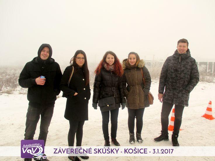 🚙 V Autoškole VaV ideme na plný plyn aj v zime :) 👉 A táto sympatická partia zo skúšok z Košíc je toho dôkazom ;)  http://www.autoskolavav.sk/