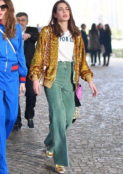Charlotte Casiraghi at 2017 Milan Fashion Week
