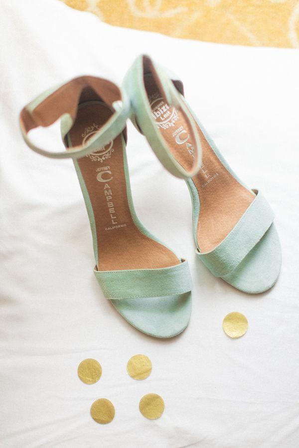 mint green wedding shoes http://www.weddingchicks.com/2013/09/04/gold-and-mint-wedding-ideas/