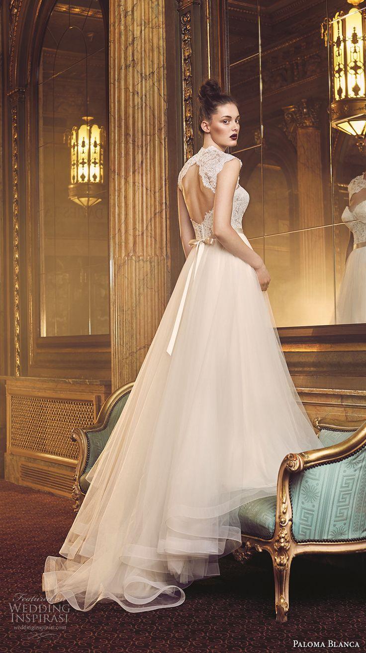 paloma blanca fall 2016 bridal strapless sweetheart neckline bustier heavily…