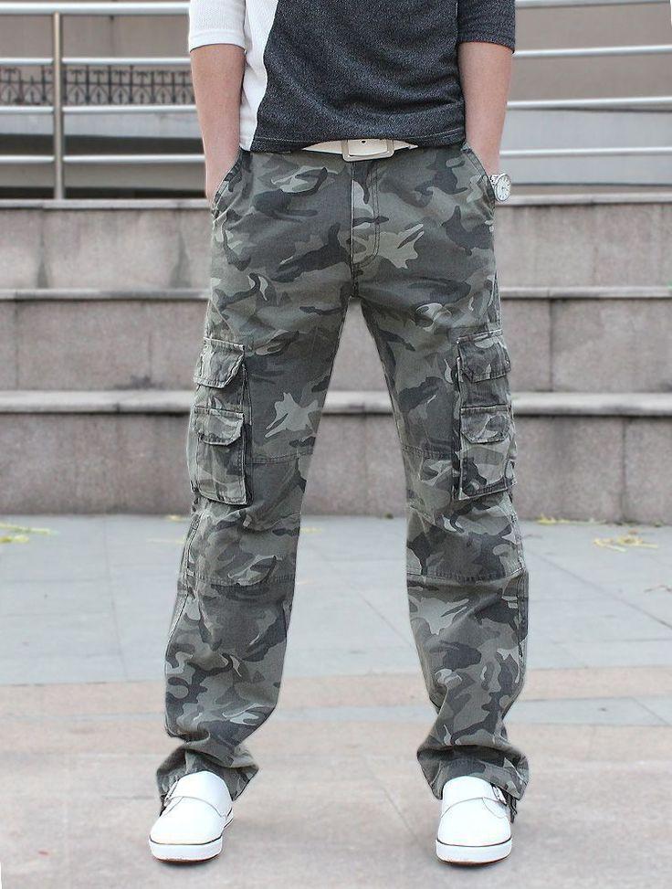 Багги армия камуфляжные штаны открытый пейнтбол тактические брюки военные мульти-карман мужские брюки боевая армия камуфляжные штаны