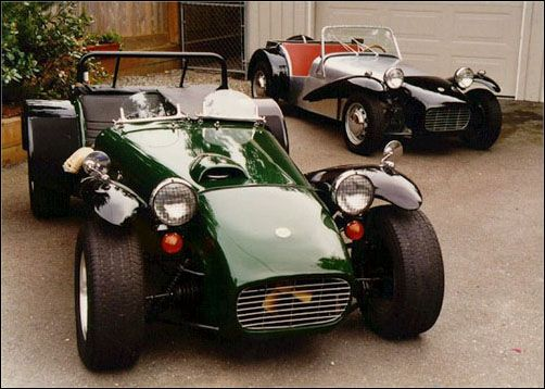 Lotus super 7 - young and old. Lovely photo.