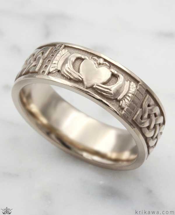 Claddagh Wedding Band In 2020 Claddagh Engagement Ring Aquamarine Engagement Ring Engagement Rings