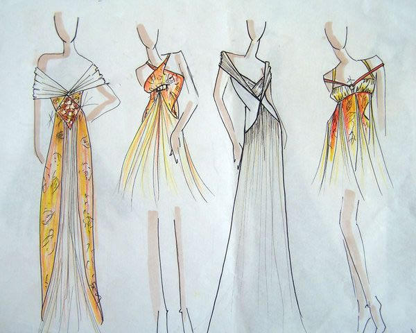 17 Best images about Fashion Sketches on Pinterest | Auction ...