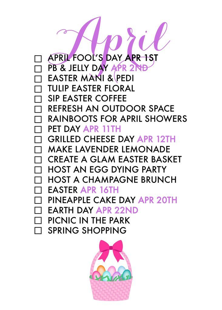 April 2017 Seasonal Living List - Free Printable - Paper & Glam {store checkout required}