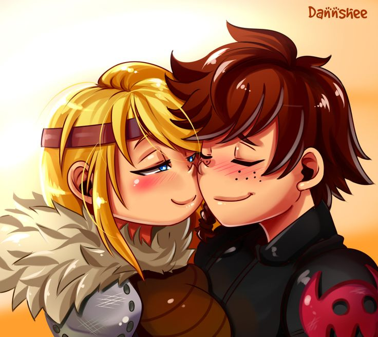 "danshee-world: ""Hiccup x Astrid """