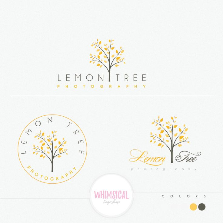 Lemon Tree 2 luxury tree design logo by WhimsicalLogoShop