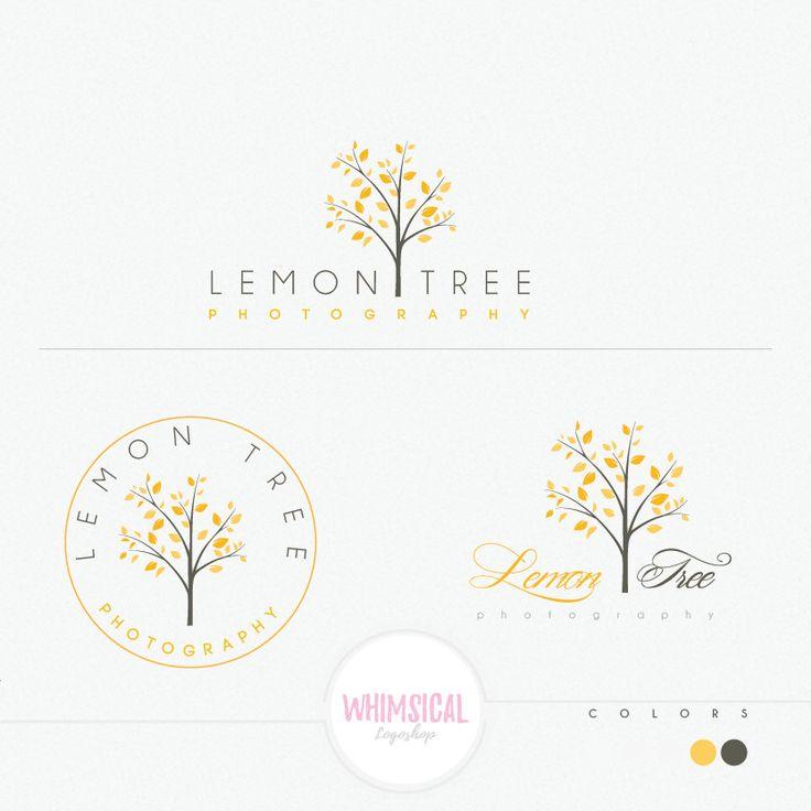 Lemon Tree 2 luxury tree design logo by WhimsicalLogoShop