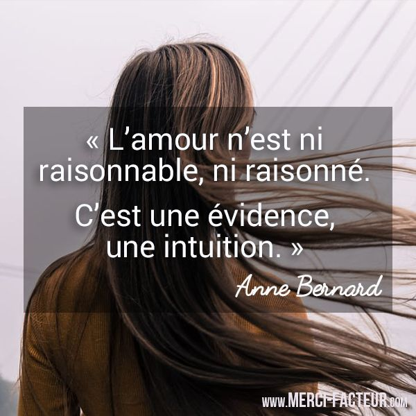 ❤️ Une très jolie citation sur l'Amour ! Merci-Facteur.com #citation #carte #amour #JeTAime #Love #intuition #StValentin