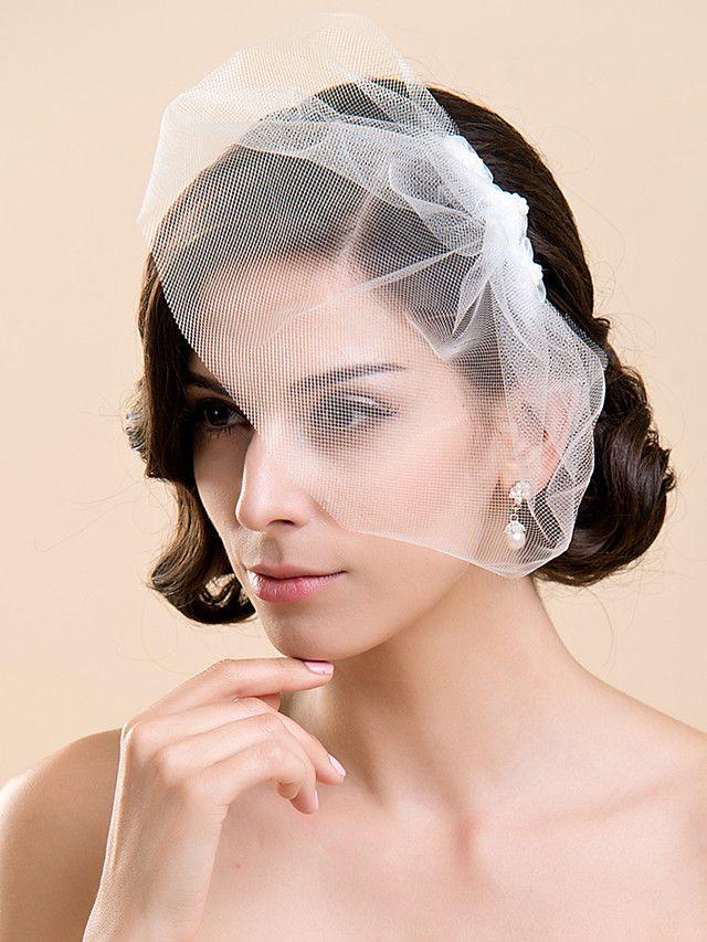 En Tier Blusher Wedding Veil (flere farger) - NOK kr44