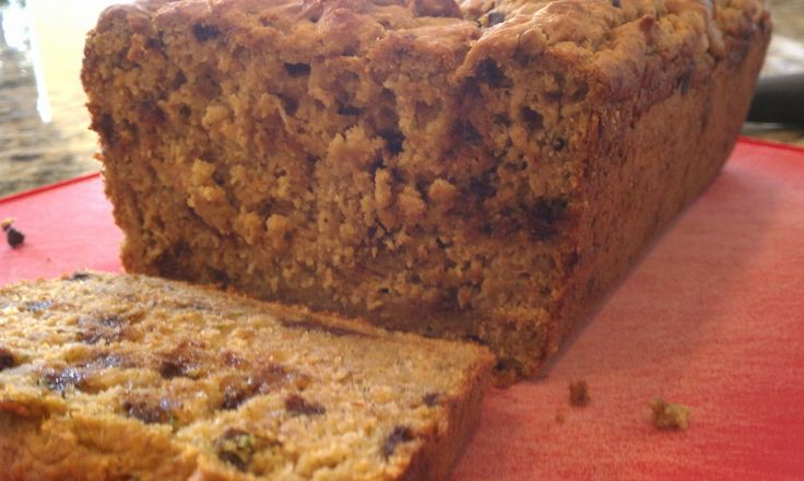 Pumpkin-Banana-Zucchini Loaf with Flax & Walnuts (adapted from Janet & Greta Podleski's March 2012 Recipe Newsletter)