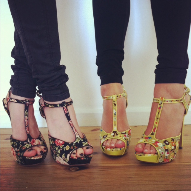 Spring has sprung in the office today and even our kicks are blooming!   Shoe Box shoes, $59.95