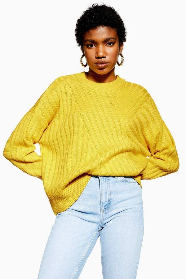 8701e64d78 Directional Ribbed Jumper - Sweaters   Knits - Clothing in 2019 ...