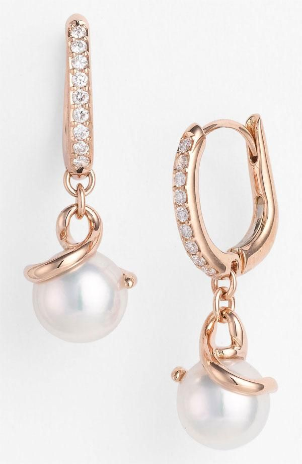 Simons Miniature pearl earrings 9lZ602voN