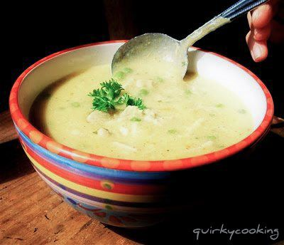 Creamy Chicken and Brown Rice Soup Thermomix recipe. A Quirky Cooking recipe via Dani Valent #Thermomix