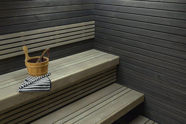 saunan lauteet   Saunapaketti Wicco Sauna Medius 4.3 suoralla lauteella 4m2 1952 mm