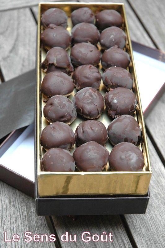 Bouchées caramel au beurre salé chocolat