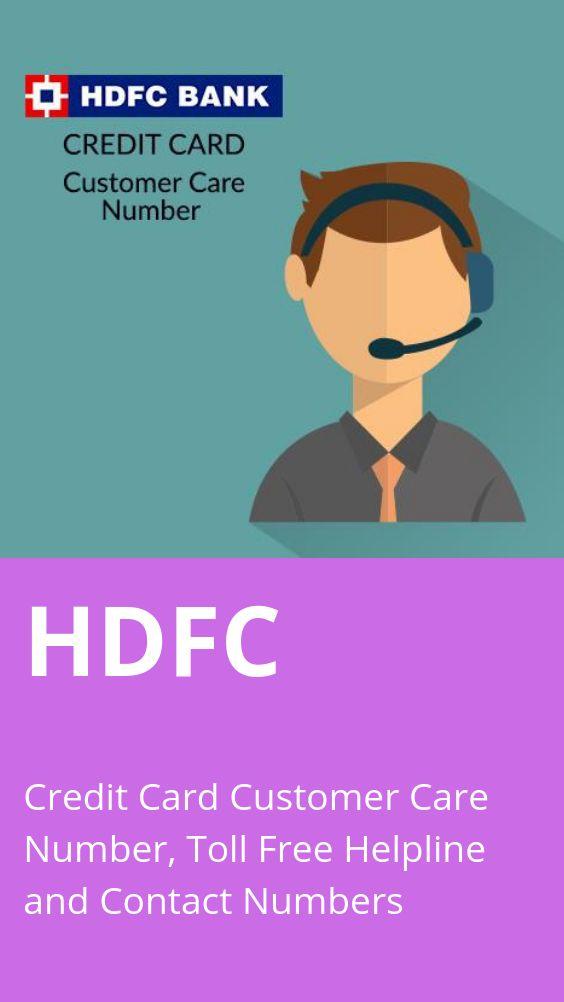 contact no. of hdfc bank credit card