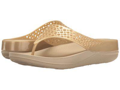 FitFlop - Ringer Welljelly Flip-Flop (Gold) Women's Sandals