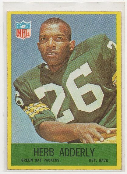 #9 HERB ADDERLY - 1967 Philadelphia CARD #74 - EX+++ NRMINT  - GREEN BAY PACKERS