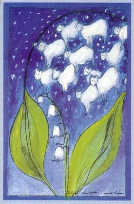 Postcard from Finland of artwork by Helja Liukko-Sundstrom