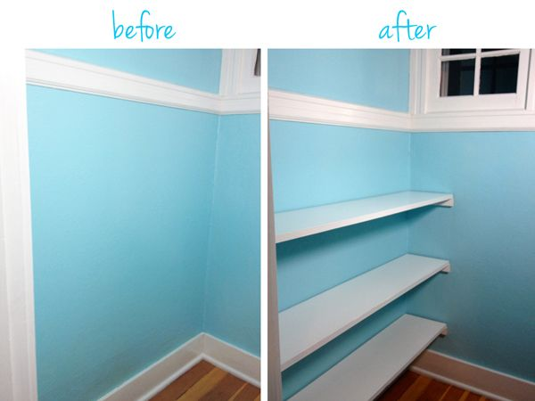 Easy closet shelves remodel ideas pinterest shelves for Simple closet shelves