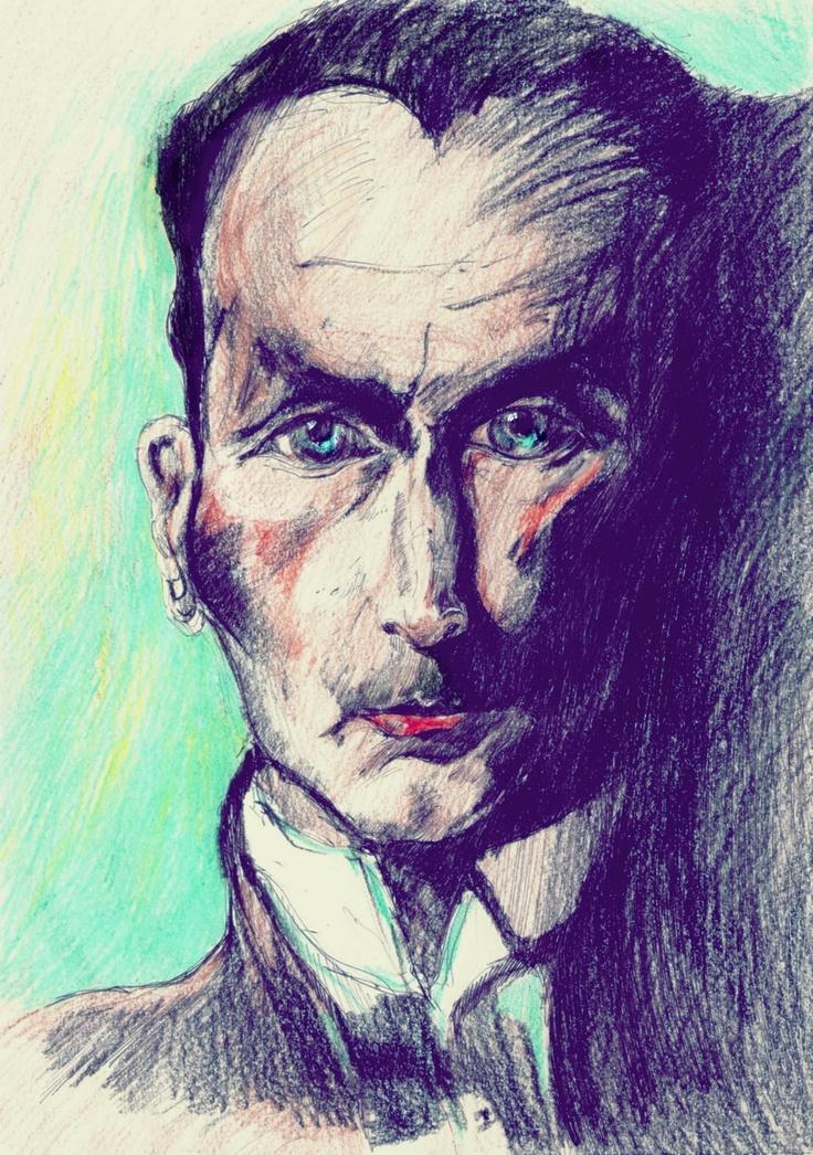witkacy>  pastel drawing by jo.
