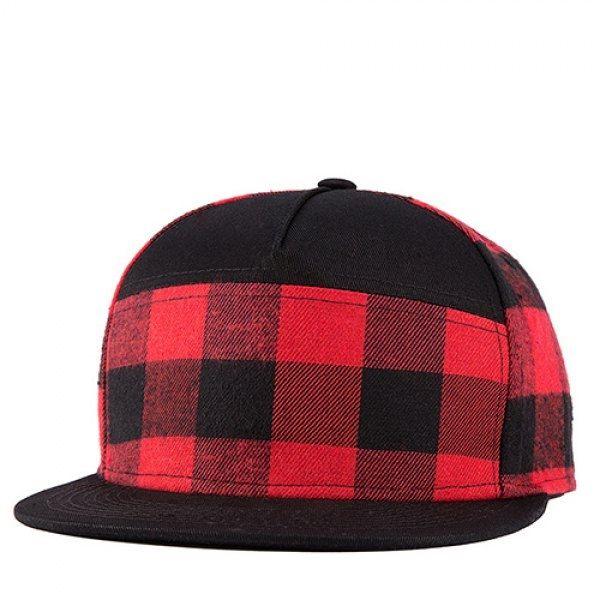 6.47$  Watch now - http://diwtj.justgood.pw/go.php?t=184678501 - Stylish Tartan Pattern Black and Red Street Snap Style Baseball Cap 6.47$