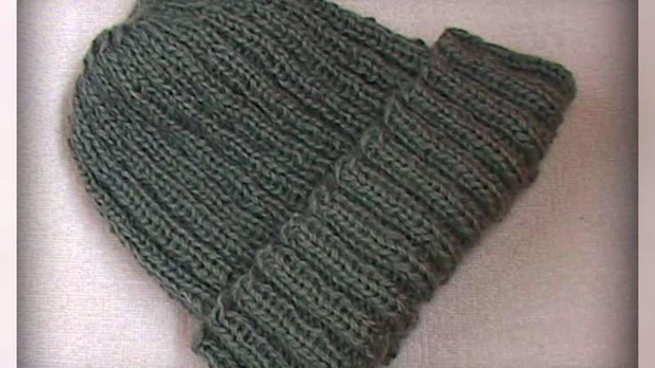 как связать мужскую зимнюю шапку - резинку