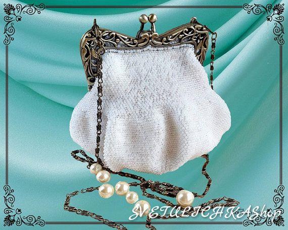 Сумка вязанная / рождественский подарок / клатч для невесты / театральная сумочка / вечерняя сумка / женская сумка / сумка бисер / стильная 42,90 € В наличии только одно изделие