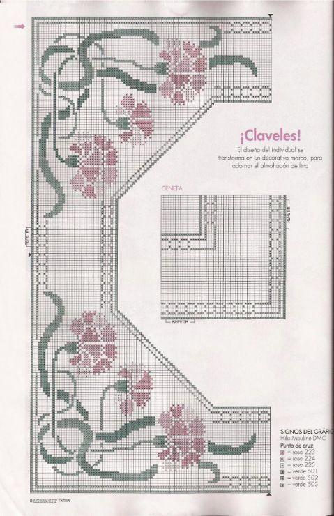 Art Nouveau style carnations