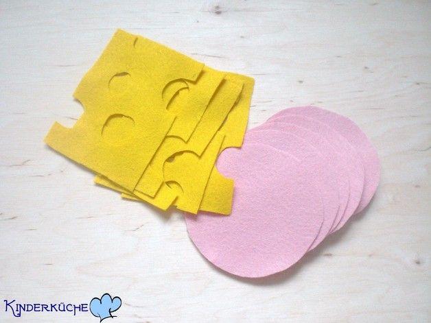 Kinderküche - Wurst- und Käseaufschnitt aus Filz