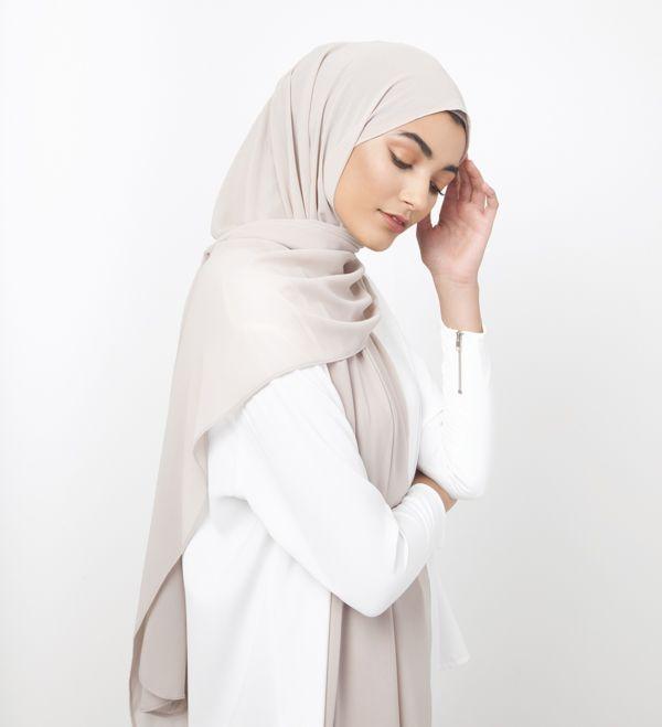 Silver Cloud Soft Crepe Hijab - £11.90