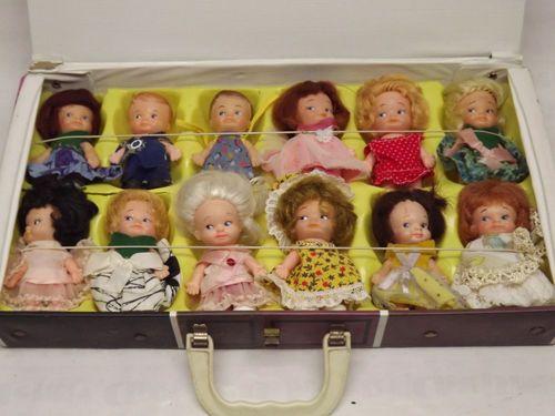 "1960's Uneeda ""Pee Wee"" 12pc Doll Lot and Vinyl Pee Wee Village Doll Case | eBay"